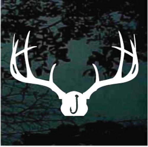 Deer Mount with Fish Hook