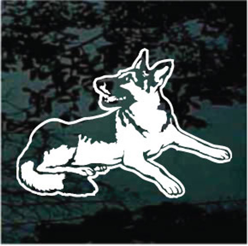German Shepherd Down Decals