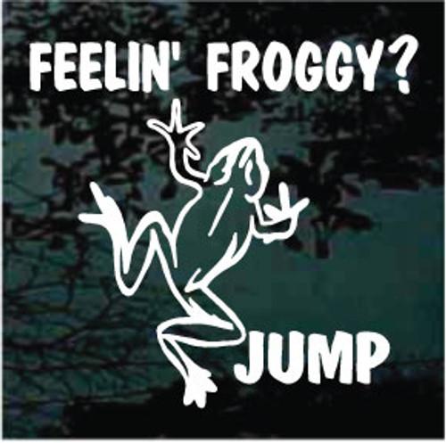 Feelin Froggy? Jump Window Decals
