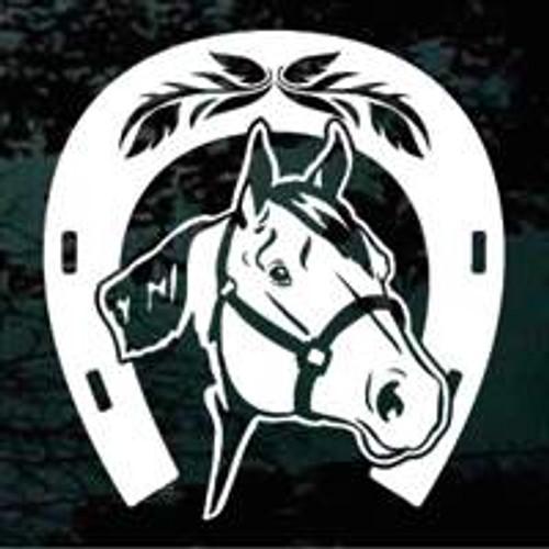 Quarter Horse Head In Horseshoe 01