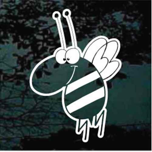 Bee Cartoon Window Decal
