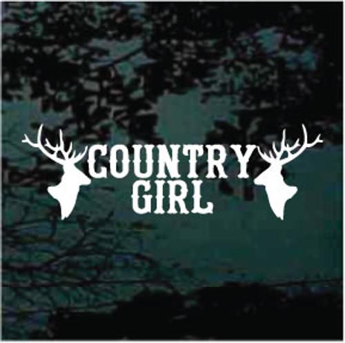 Country Girl Deer Heads