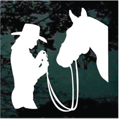 Cowgirl Love With Horse Window Decals