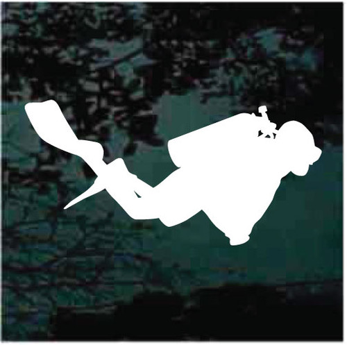 Swimming Scuba Diver Diving Window Decals