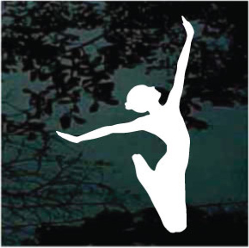 Ballet Ballerina Jump Decals