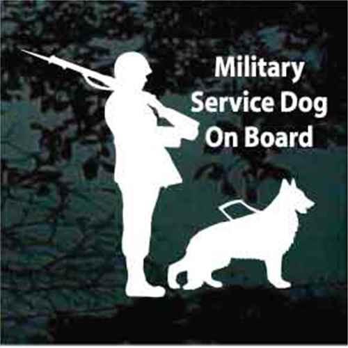 Soldier Service Dog German Shepherd Window Decal