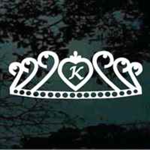 Decorative Tiara Monogram Window Decals