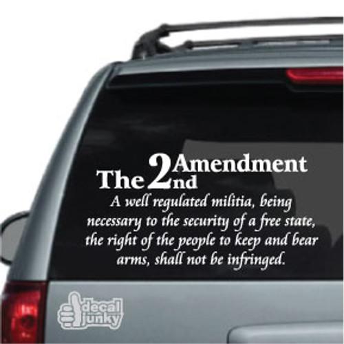 2nd Amendment Car Decal