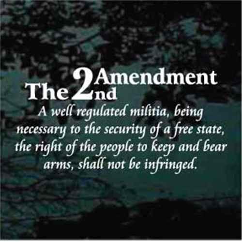 2nd Amendment Window Decal