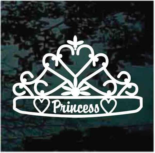 Decorative Heart Princess Tiara Decals
