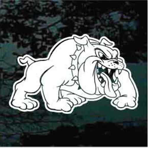 Bulldog Sports Mascot Window Decals