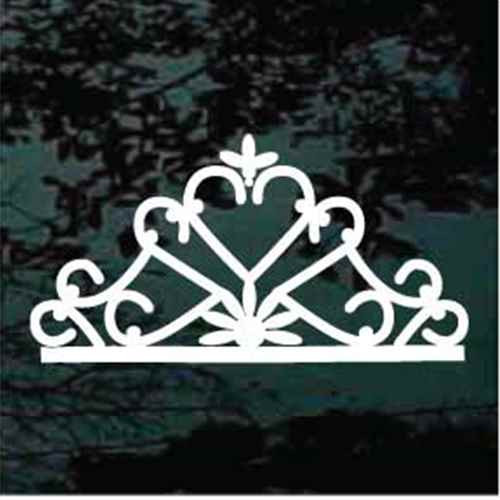 Decorative Heart Tiara Crown