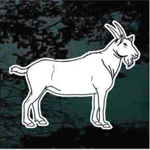 Billy Goat Standing Window Decals