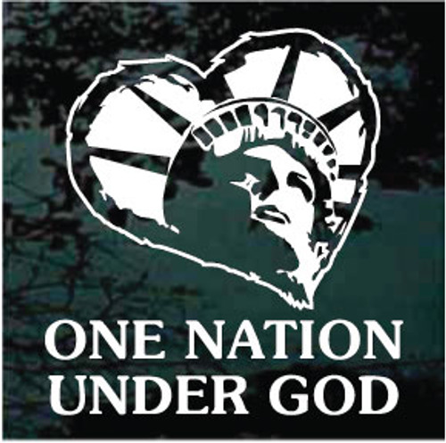 Statue of Liberty Heart One Nation Under God