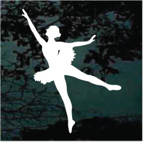 Ballerina Dancing In Tutu Window Decals