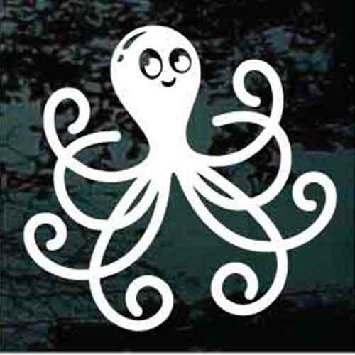 Octopus Cartoon Window Decals