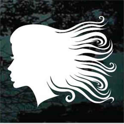 Female Silhouette Hairstyle Profile