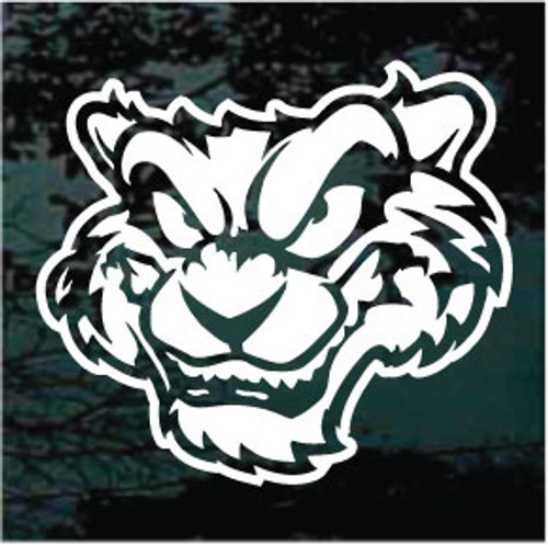 Cartoon Tiger Head Window Decals