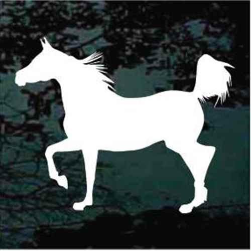 Graceful Tennessee Walker Horse Window Decal