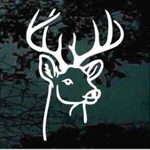 Outline Deer Head Window Decals