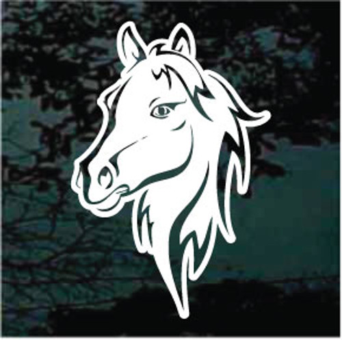 Graceful Horse Head Decals