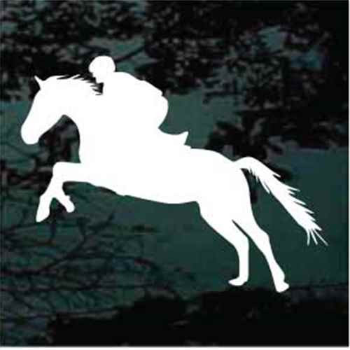 Silhouette Horse Jumping Decals