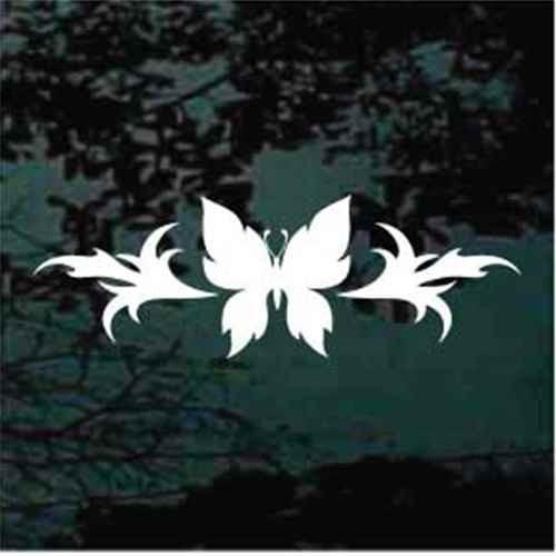 Fleur-De-Lis Butterfly Design Window Decals