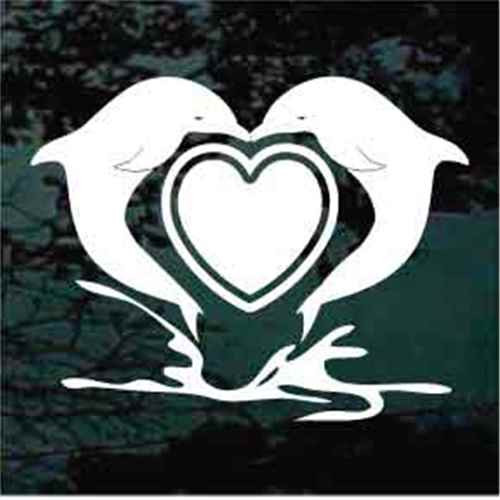 Dolphin Heart Decals