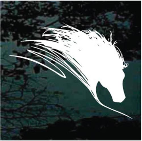 Custom Stallion Horse Head Window Decal