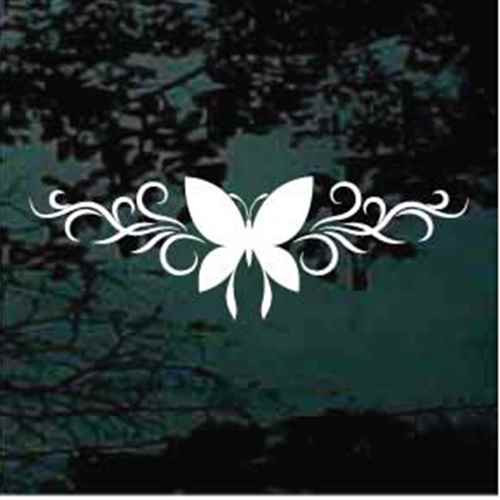 Butterfly Silhouette Design Window Decal