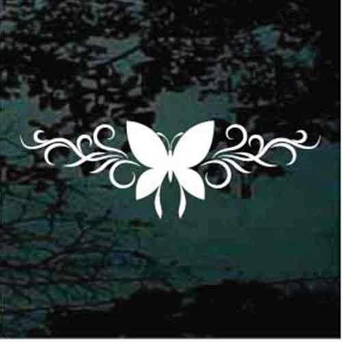 Butterfly Silhouette Design Window Decals
