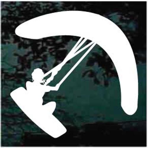 Girl Kitesurfer Window Decal