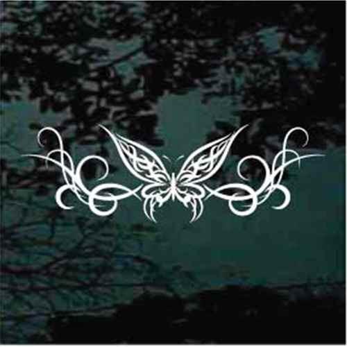 Wispy Butterfly Design Window Decals