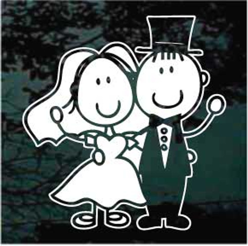 Bride & Groom Cartoon 01