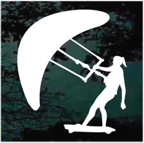 Kitesurfer Girl Window Decal