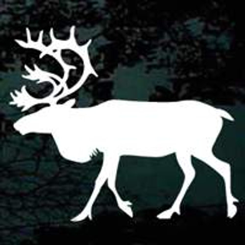 Elk Silhouette 06 Window Decal