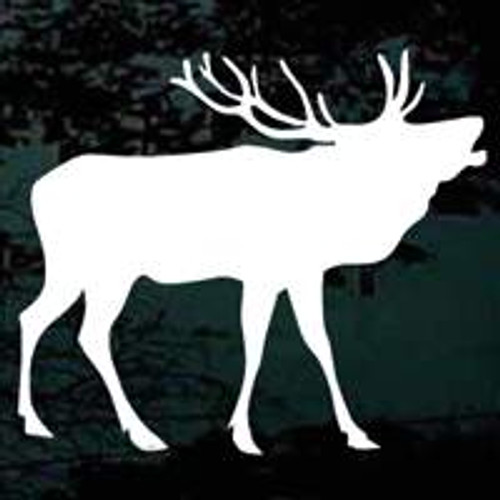 Bull Elk Silhouette Car Window Decal