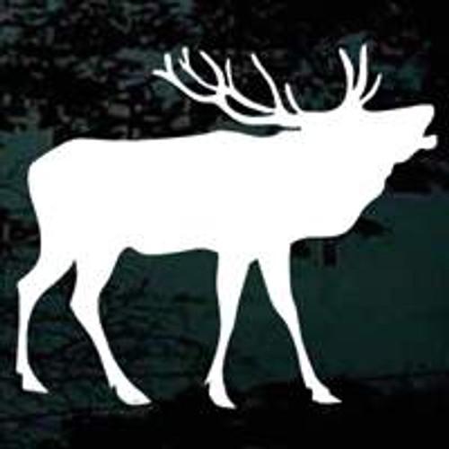 Bull Elk Calling Window Decals