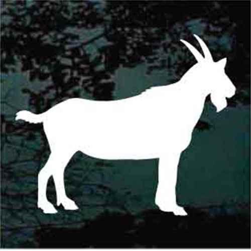 Solid Billy Goat Standing Window Decals