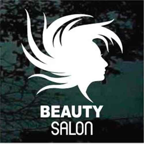 Beauty Salon Logo With Flying Hair