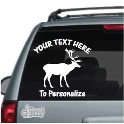Bull Elk Standing Car Decals