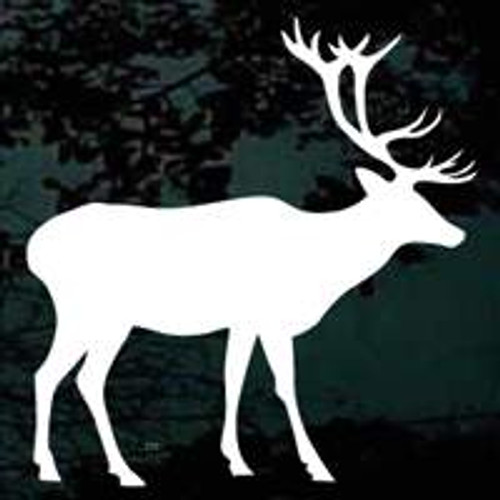 Bull Elk Standing Window Decals