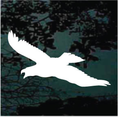 Eagle In Flight Silhouette Window Decals
