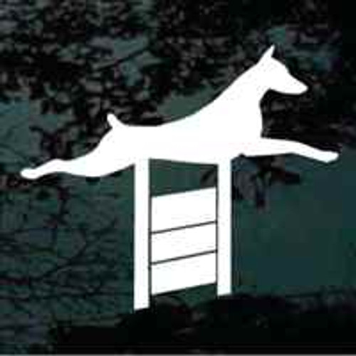 Doberman Agility Window Decal