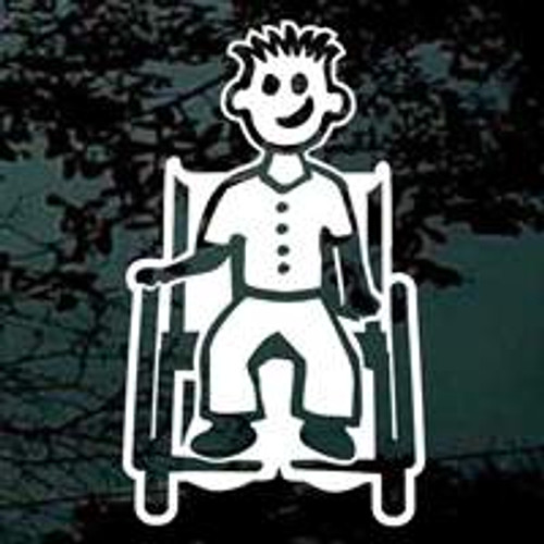 Cartoon Family Boy In Wheelchair