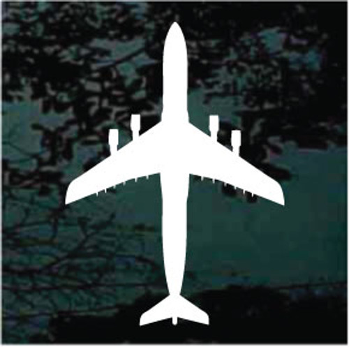Airplane Silhouette 10 Decals