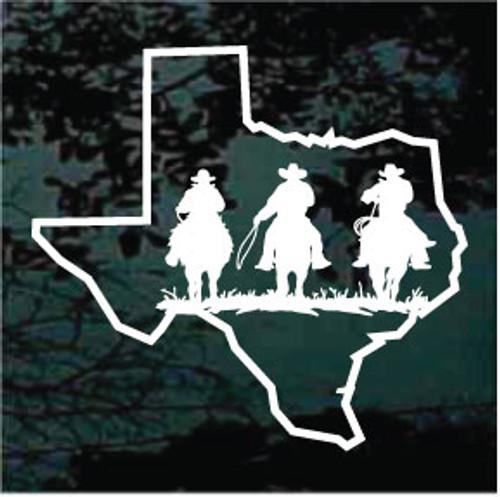 Texas Cowboy Riders Window Decals