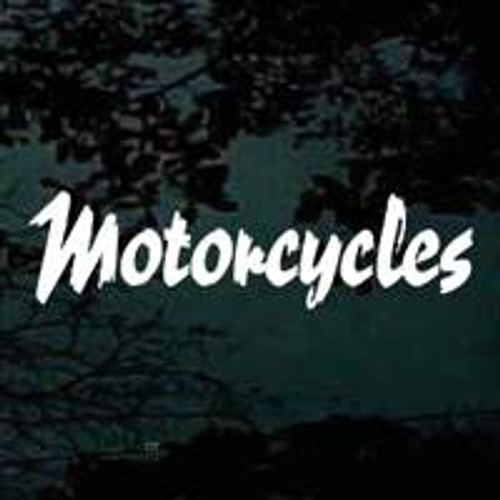 Motorcycles Lettering Decals