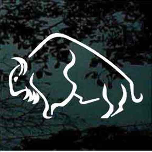 Buffalo Outline Window Decals