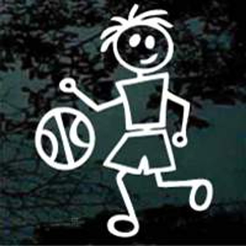 Stick Family Boy Basketball Decals